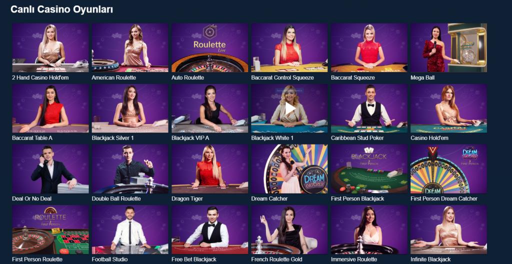 Jetbahis Canlı Casino Oyunları